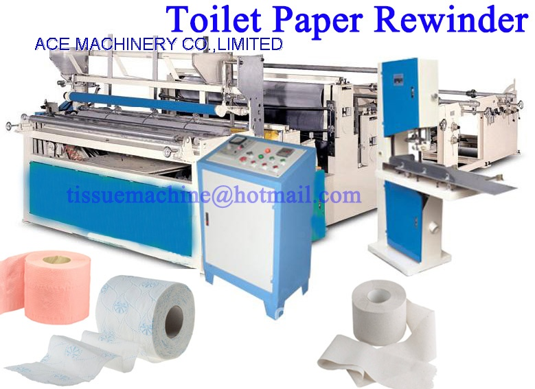 Toilet Paper Roll Bathroom Tissue Making Manufacturing Machine With - Bathroom tissue on sale