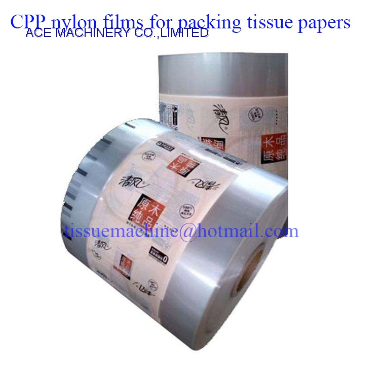 CPP nylon film for packing facial tissue papers