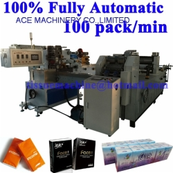 Fully Automatic Pocket Tissue Paper Handkerchief hanky Machine Production Line