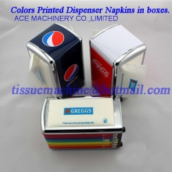 Interfold L Fold Dispenser Tissue Paper Napkin Folding Machine with 2 Colors Printing