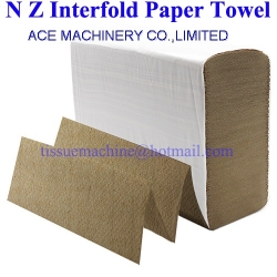 Biodegradable Disposable Multifold Z V N Fold Interfold Paper Hand Towel Tissue Kraft Recycled