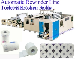 Toilet Paper Bathroom Tissue and Kitchen Rolls Towel Automatic Rewinder Line