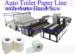 Economical Toilet Paper Bathroom Tissue Automatic Rewinder Converting Processing Line