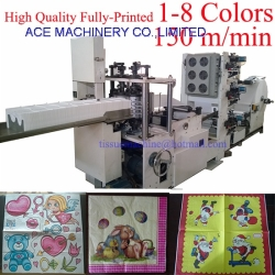 3 Colors High Quality Multi colors Printing Paper Napkin Machine