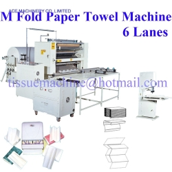 M W Four Five Folds Paper Hand Towel Tissue Interfolder Machine