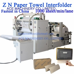 Automatic 1000 Sheets/Min/Lane High Speed Z N Multifold Paper Towel Interfolder Machine in China