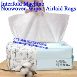 Automatic Nonwoven Rag Airlaid Cotton Pop Up Wipes Interfolder Machine