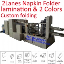 Lamination and Two Colors Printing Napkin Tissue Paper Machine